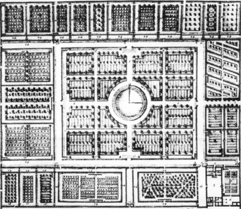 The King's Kitchen Garden at Versailles, 1693.